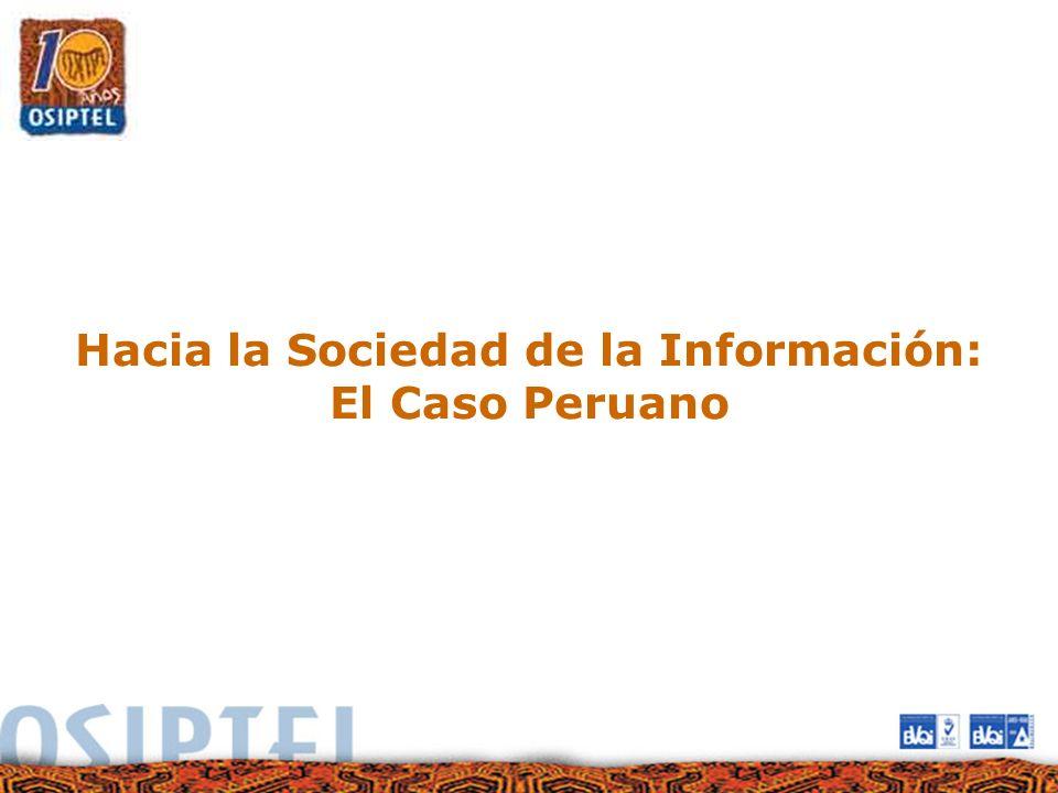 Hacia la Sociedad de la Información: El Caso Peruano