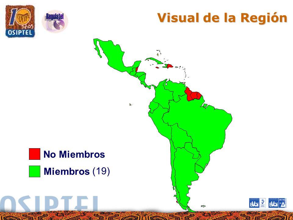 Miembros (19) No Miembros Visual de la Región