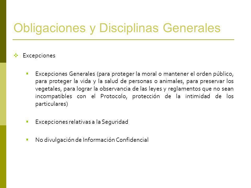 Obligaciones y Disciplinas Generales Que han de ser objeto de Negociación Defensa de la Competencia (Aplicación del Protocolo de Defensa de la Competencia del MERCOSUR) Contratación Pública Subvenciones