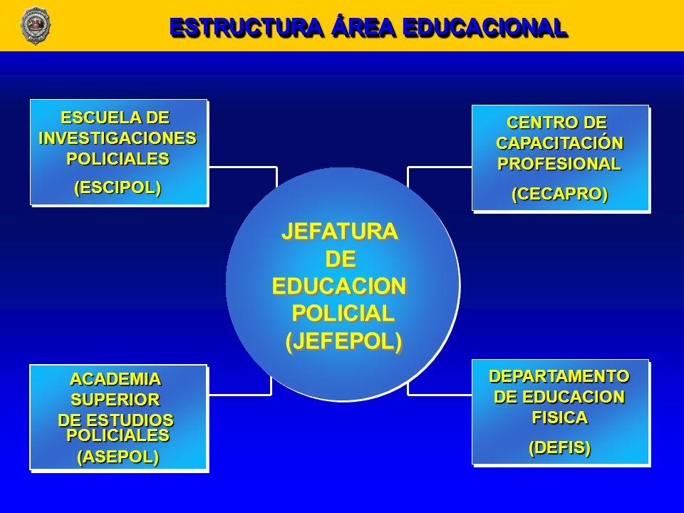 En el año 1998, fue modificada la Ley Orgánica Constitucional de Enseñanza, reconociendo como planteles de educación superior, a la Academia Superior de Estudios Policiales y a la Escuela de Investigaciones Policiales.
