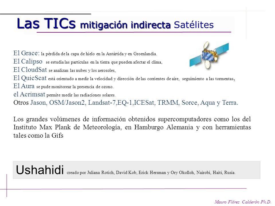 Las TICs y mitigación indirecta Las TICs y mitigación indirecta Mauro Flórez Calderón Ph.D. Prospección: alertas tempranas, predicción y detección de