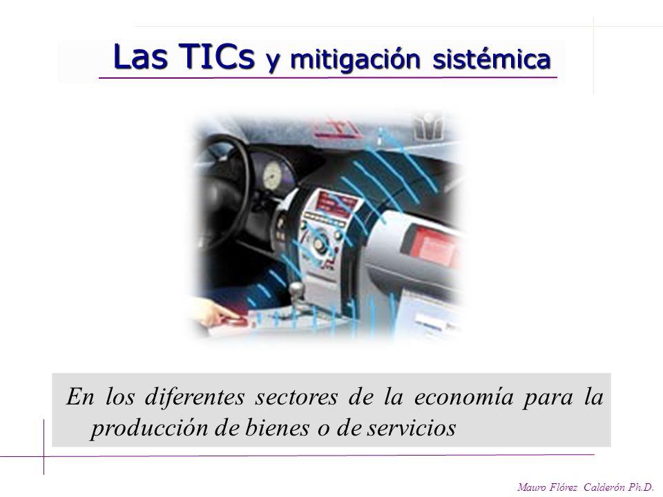 Las TICs y mitigación indirecta Las TICs y mitigación indirecta Mauro Flórez Calderón Ph.D. Servicios convergentes: Teletrabajo – teleconferencias- te