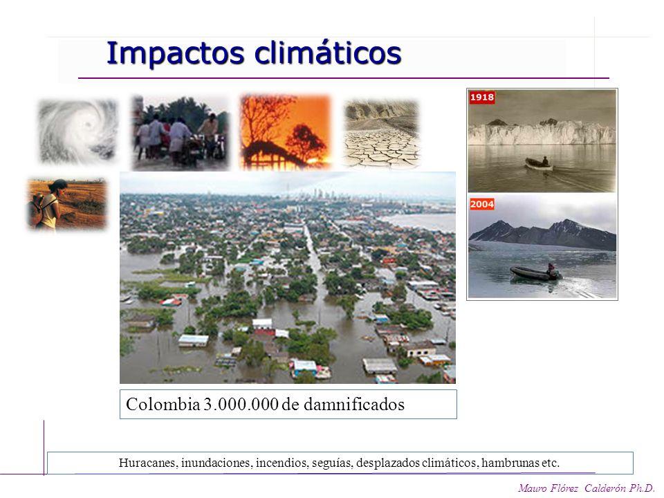Mauro Flórez Calderón Ph.D. Impactos sociales y naturales y naturales