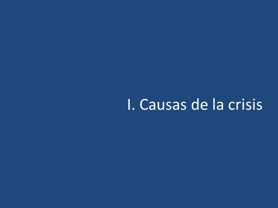 I. Causas de la crisis