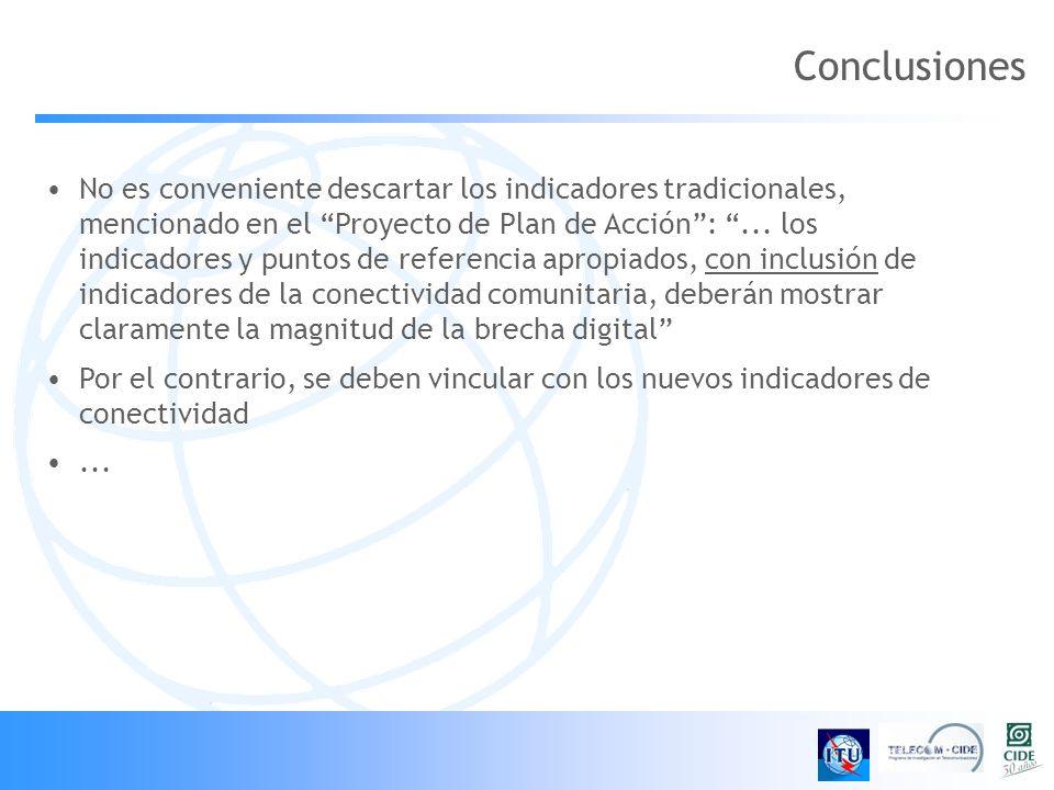 No es conveniente descartar los indicadores tradicionales, mencionado en el Proyecto de Plan de Acción:...