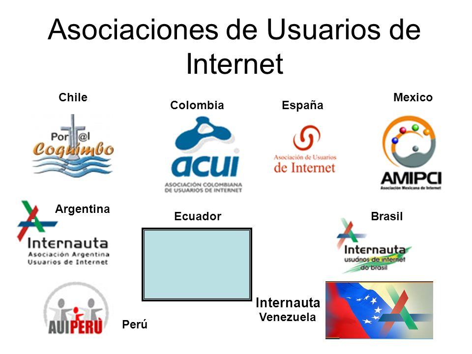 Asociaciones de Usuarios de Internet España ChileMexico Argentina Colombia BrasilEcuador Venezuela Internauta Perú