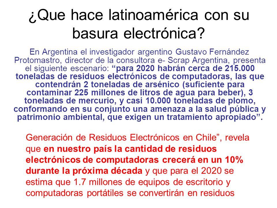 ¿Que hace latinoamérica con su basura electrónica.