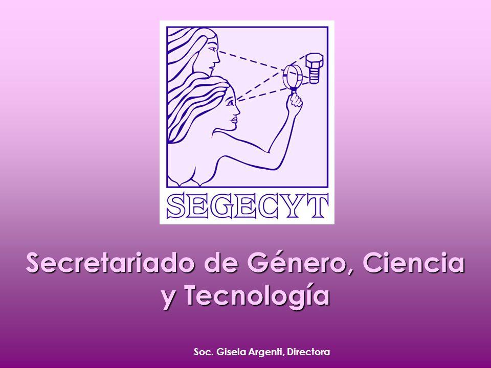 Soc. Gisela Argenti, Directora Secretariado de Género, Ciencia y Tecnología