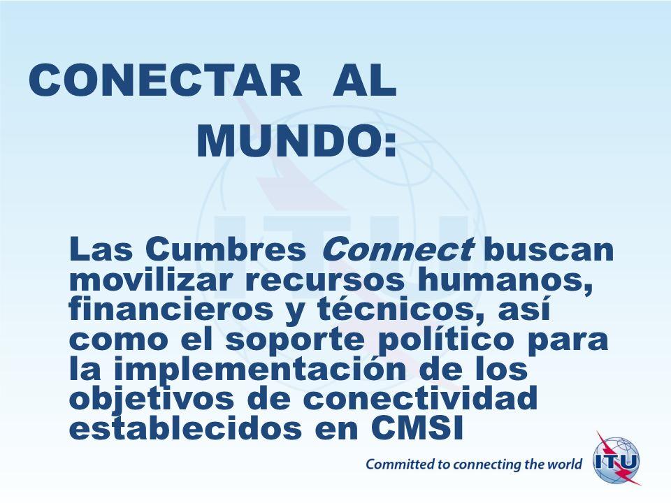 CONECTAR AL MUNDO: Las Cumbres Connect buscan movilizar recursos humanos, financieros y técnicos, así como el soporte político para la implementación