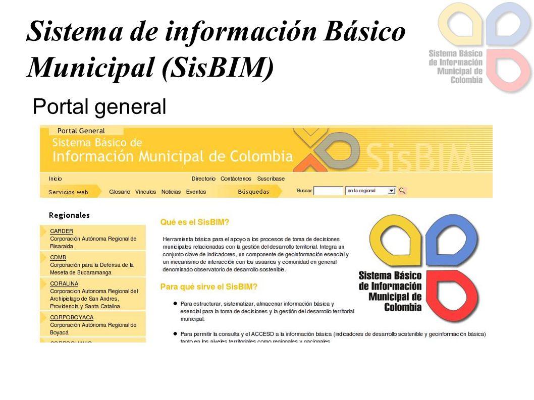 Sistema de información Básico Municipal (SisBIM) Portal general
