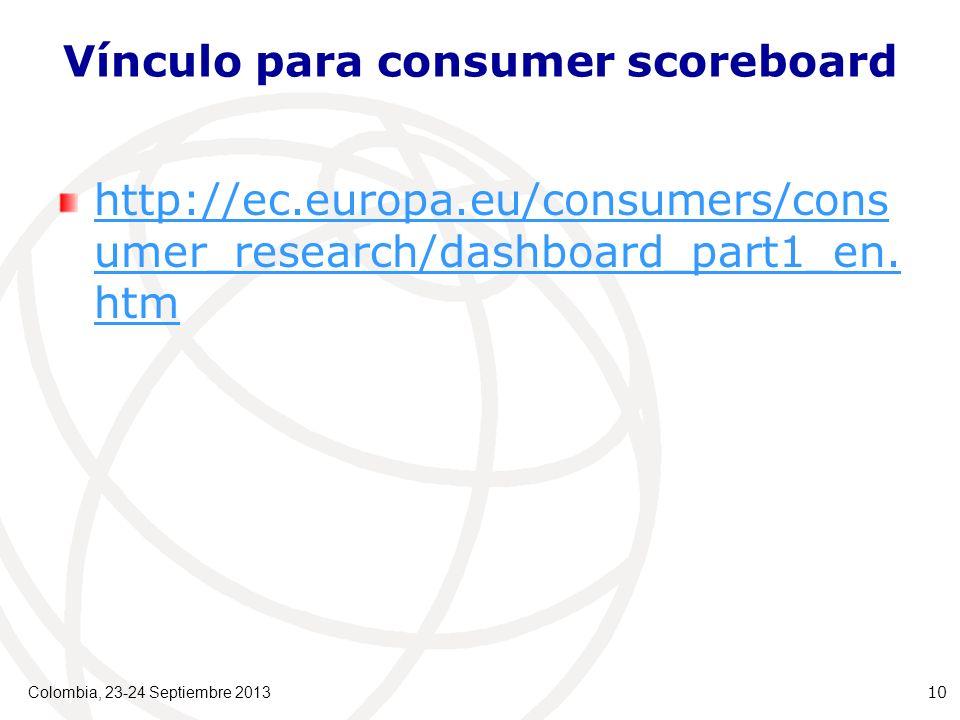 Vínculo para consumer scoreboard http://ec.europa.eu/consumers/cons umer_research/dashboard_part1_en.