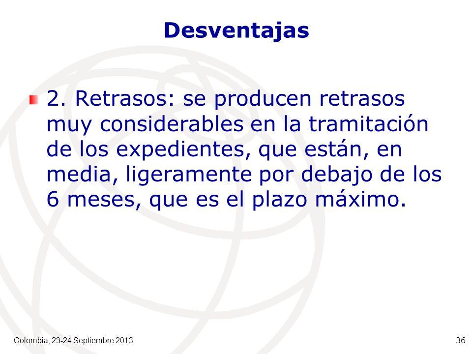 Desventajas 2.