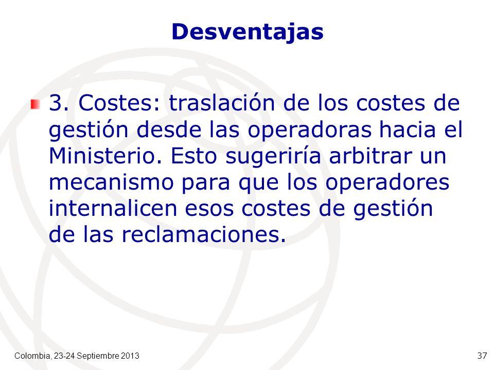 Desventajas 3.