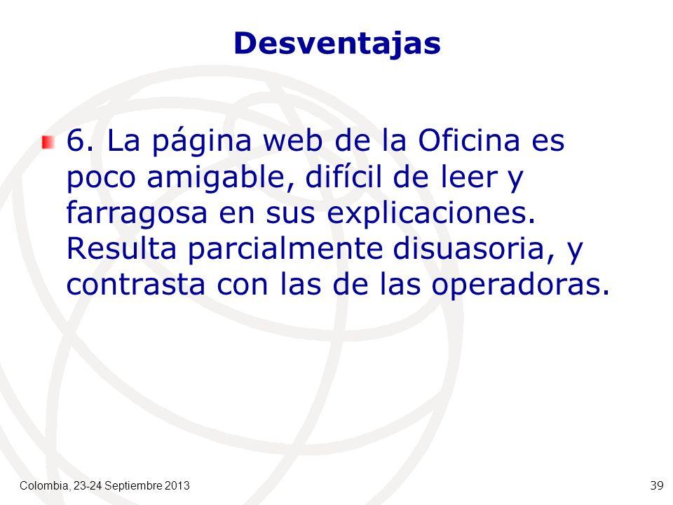 Desventajas 6.