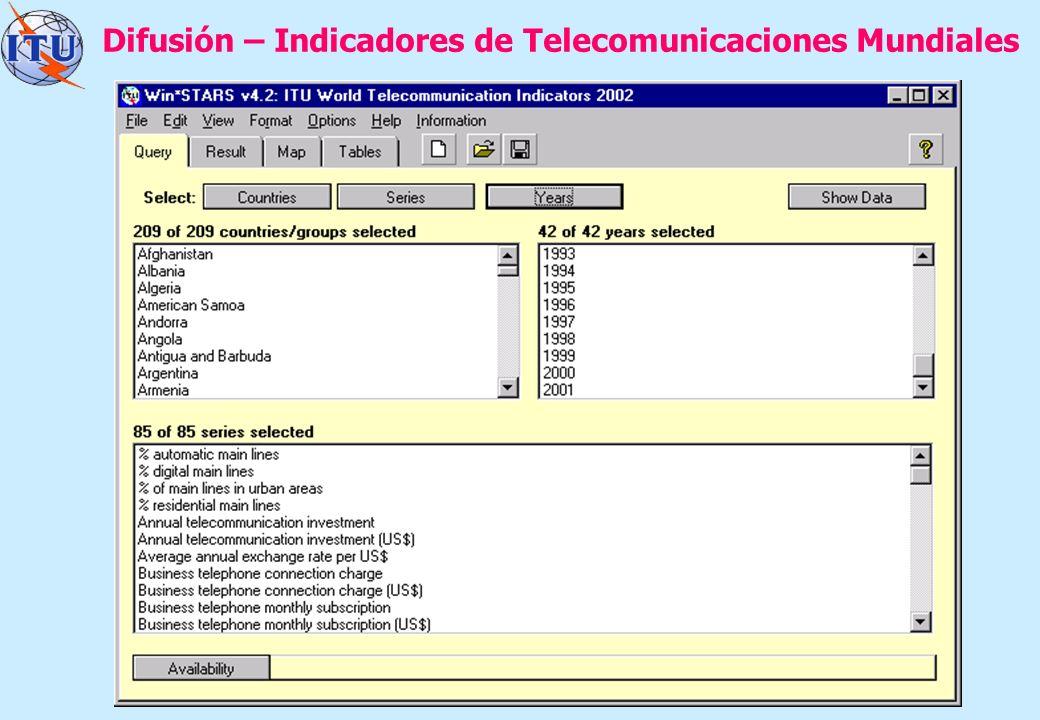 7 Difusión – Indicadores de Telecomunicaciones Mundiales