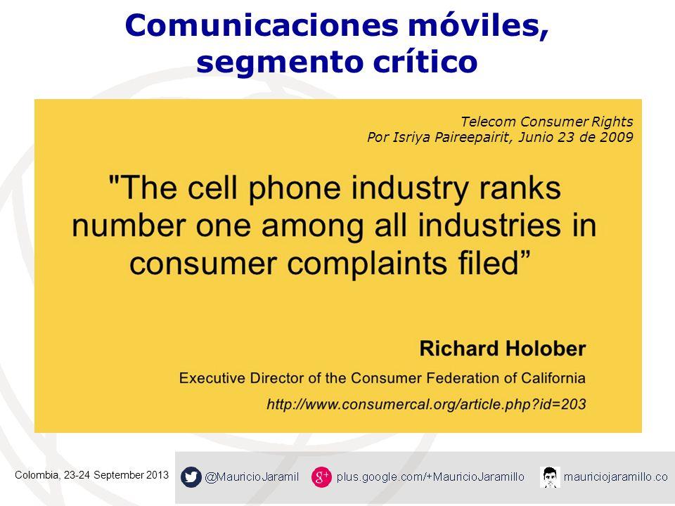 Telecomunicaciones, el gran reto En 2013, unos 3.000 PQRS mensuales.