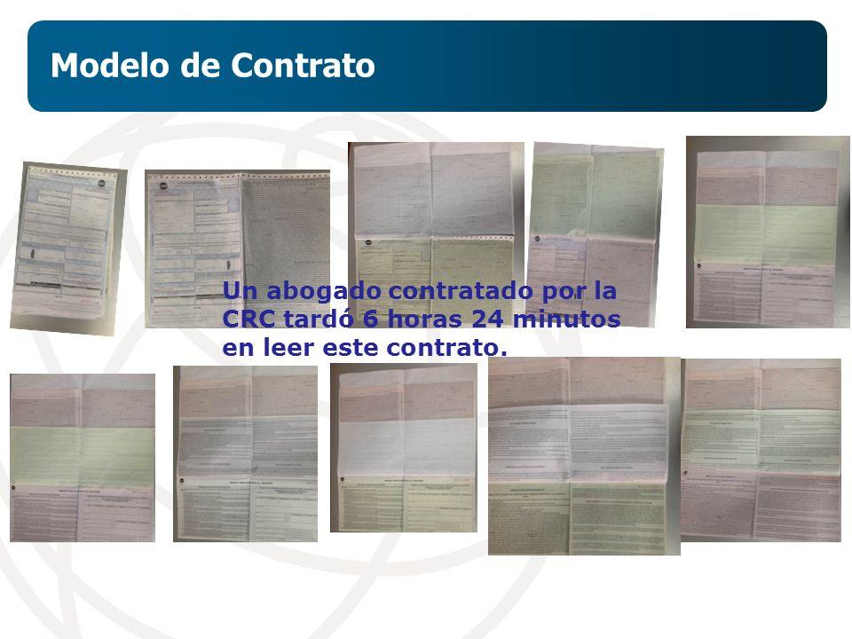 Modelo de Contrato Un abogado contratado por la CRC tardó 6 horas 24 minutos en leer este contrato.