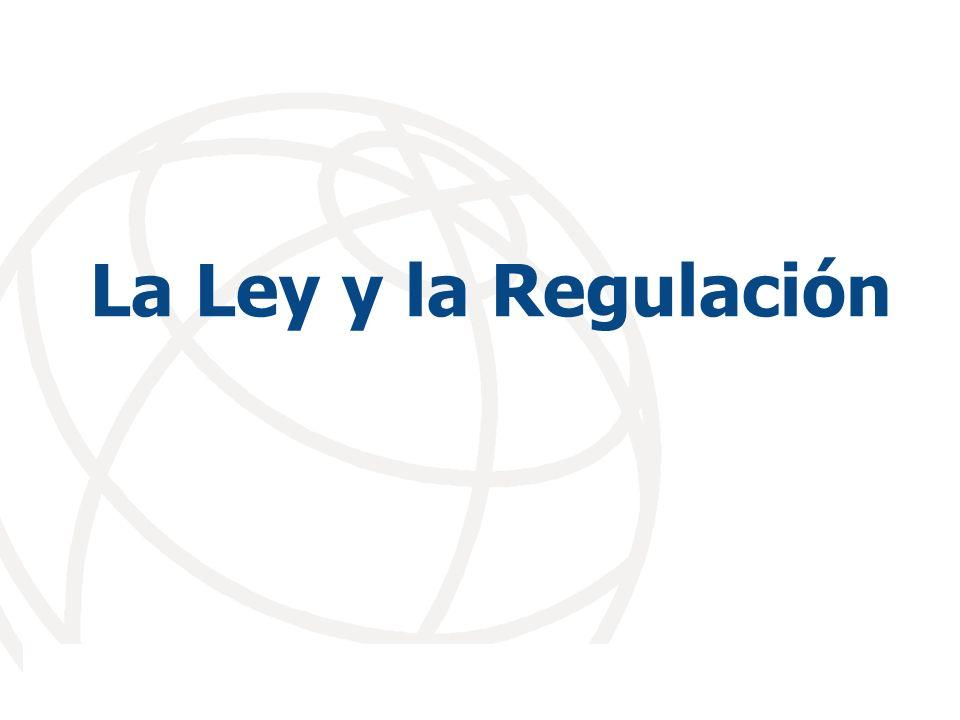 La Ley y la Regulación