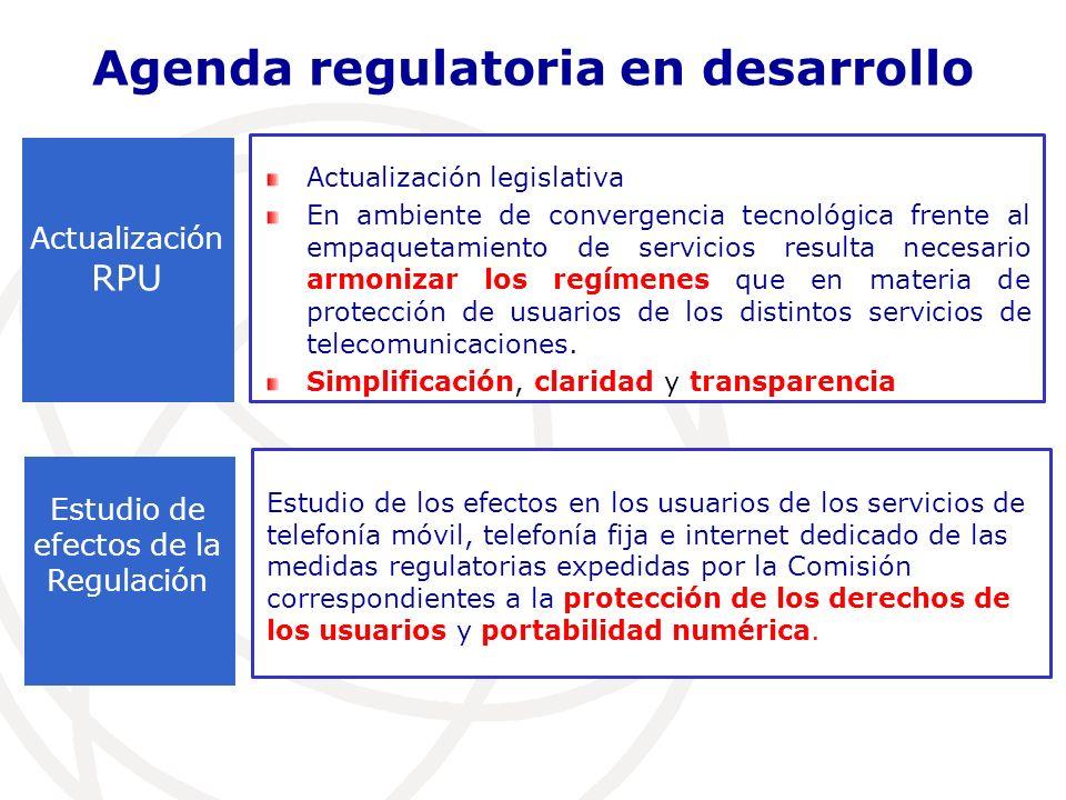 Actualización legislativa En ambiente de convergencia tecnológica frente al empaquetamiento de servicios resulta necesario armonizar los regímenes que en materia de protección de usuarios de los distintos servicios de telecomunicaciones.