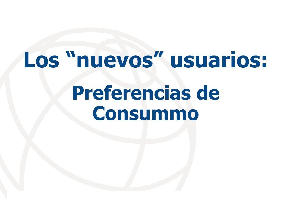Los nuevos usuarios: Preferencias de Consummo