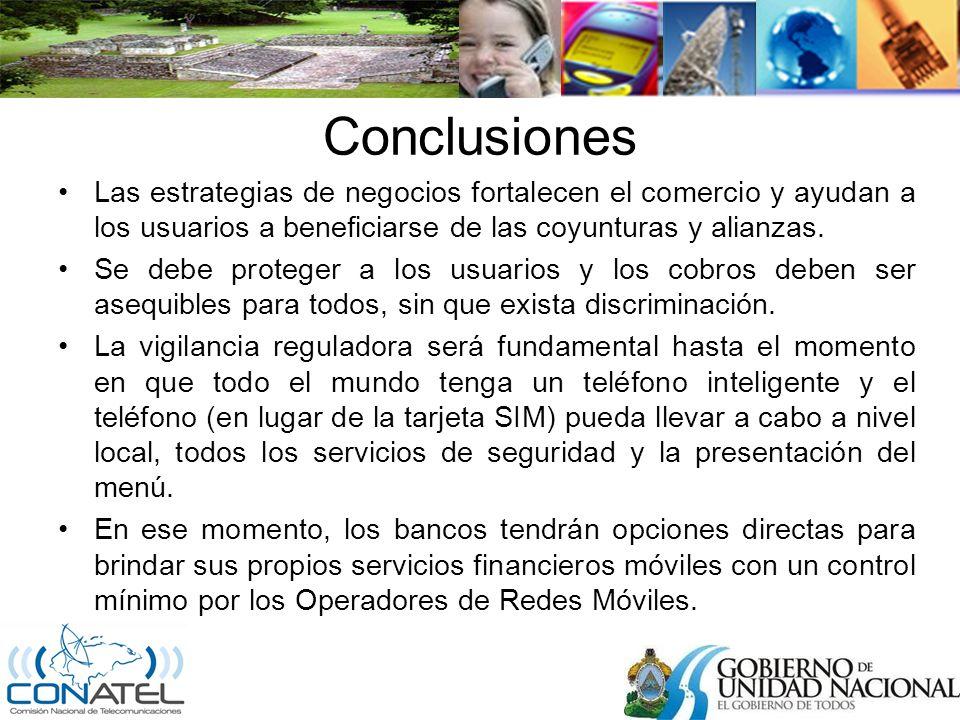 Conclusiones Las estrategias de negocios fortalecen el comercio y ayudan a los usuarios a beneficiarse de las coyunturas y alianzas.