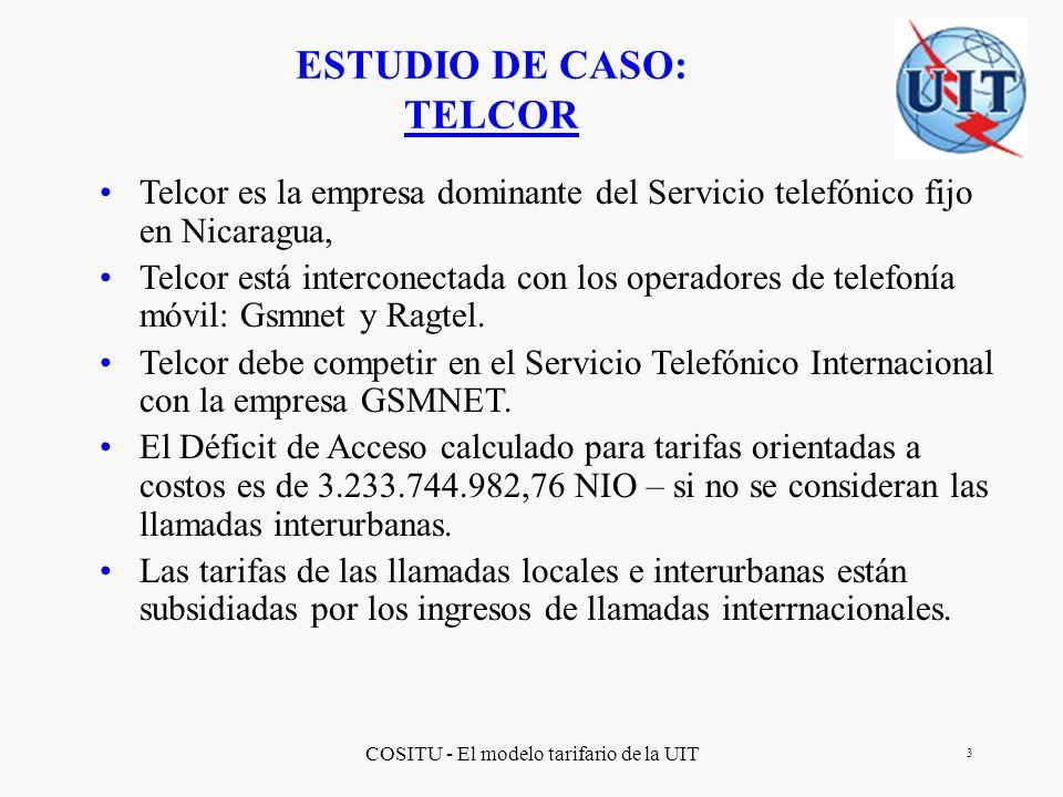 COSITU - El modelo tarifario de la UIT 14 Elaboración de la SEGUNDA etapa del Proceso de Rebalanceo Tarifario Tomando en consideración las reglas impuestas por el Gobierno y su propio desarrollo, Telecor realiza los pronoisticos para la SEGUNDA etapa del proceso.