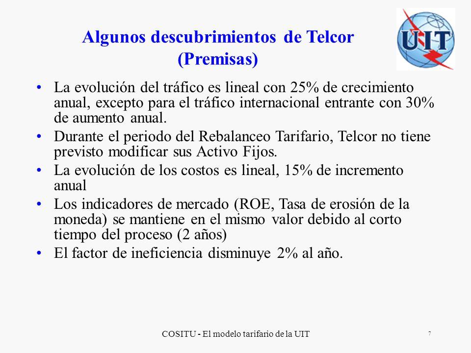 COSITU - El modelo tarifario de la UIT 18 http://www.itu.int/ITU-D/finance/