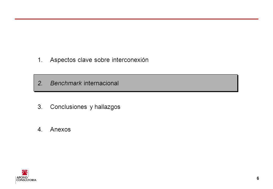 5 Criterios para el cálculo de los cargos por interconexión (1) A lo largo del tiempo, se han desarollado y usado una serie de criterios para los carg