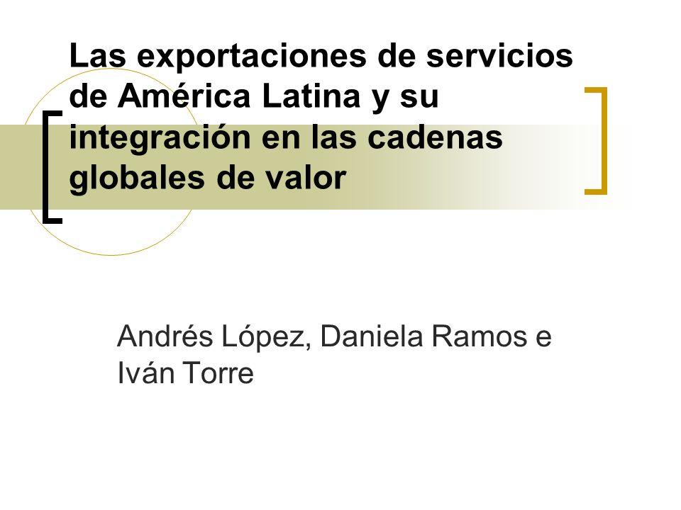 Los cambios en el comercio de servicios Crecimiento del comercio mundial de servicios (aunque se mantiene en torno al 25% del comercio total) – de 1,5 billones de dólares en 2000 a 2,4 billones de dólares en 2005.