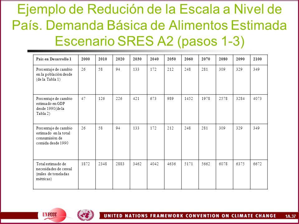1A.37 Ejemplo de Redución de la Escala a Nivel de País.