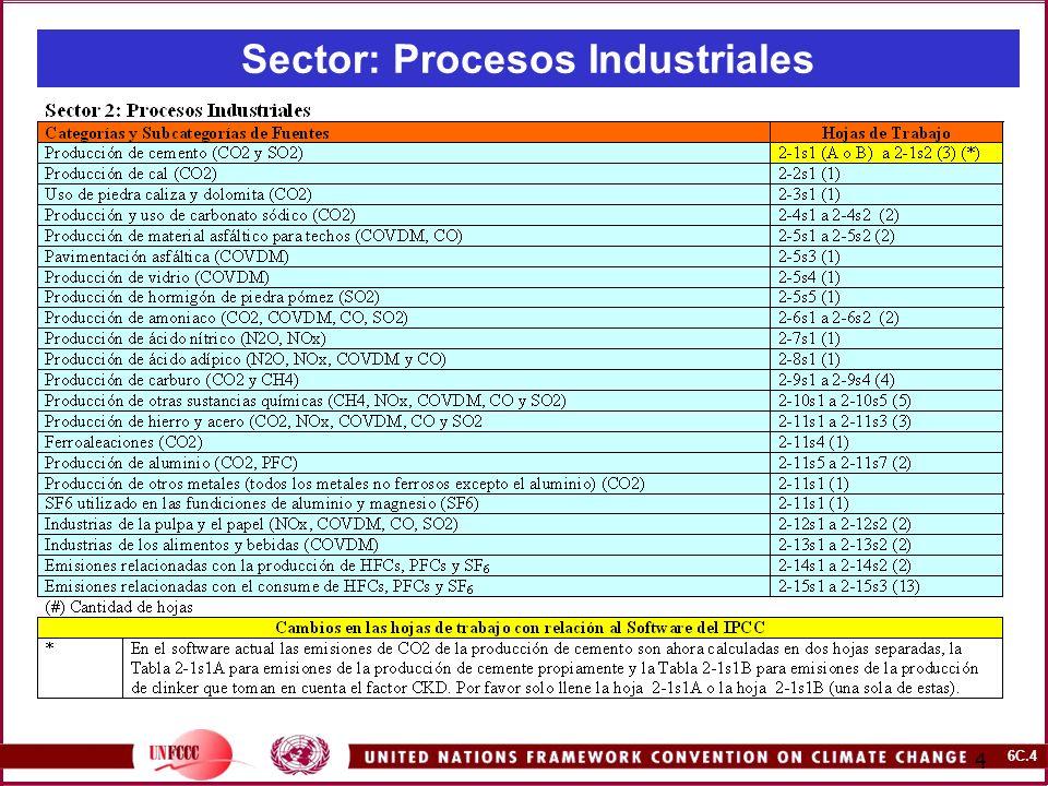 6C.4 4 Sector: Procesos Industriales