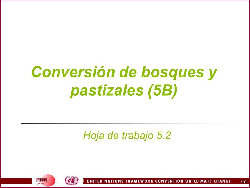 4.70 Conversión de bosques y pastizales (5B) Hoja de trabajo 5.2