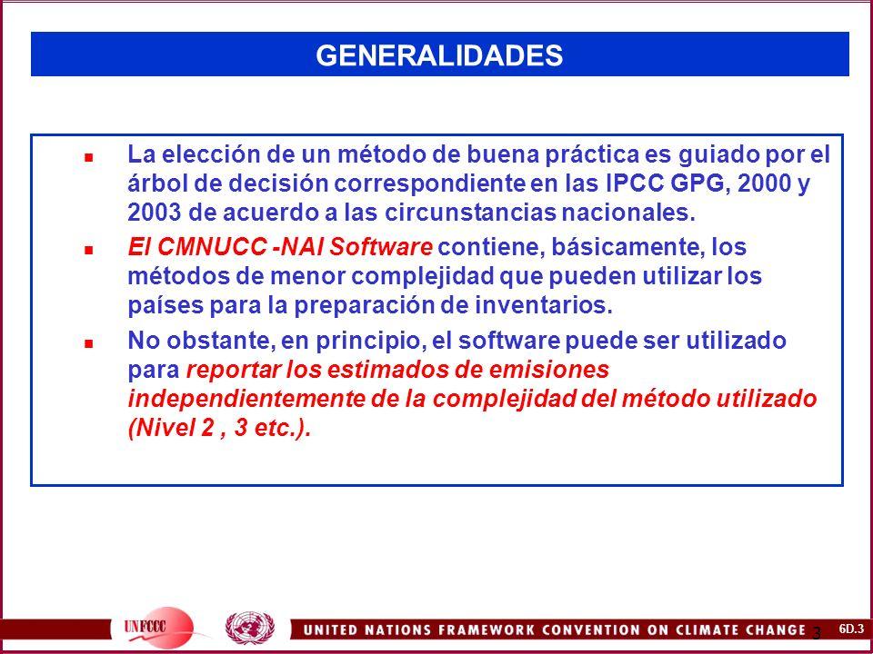 6D.34 34 SECTOR: AGRICULTURA Ejercicio para Autoevaluación 1: CH4 desde la Fermentación Entérica y el Manejo del Estiércol en el Ganado Doméstico (I) País A: Año: 2000.