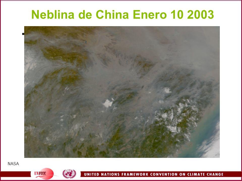 Neblina de China Enero 10 2003 NASA