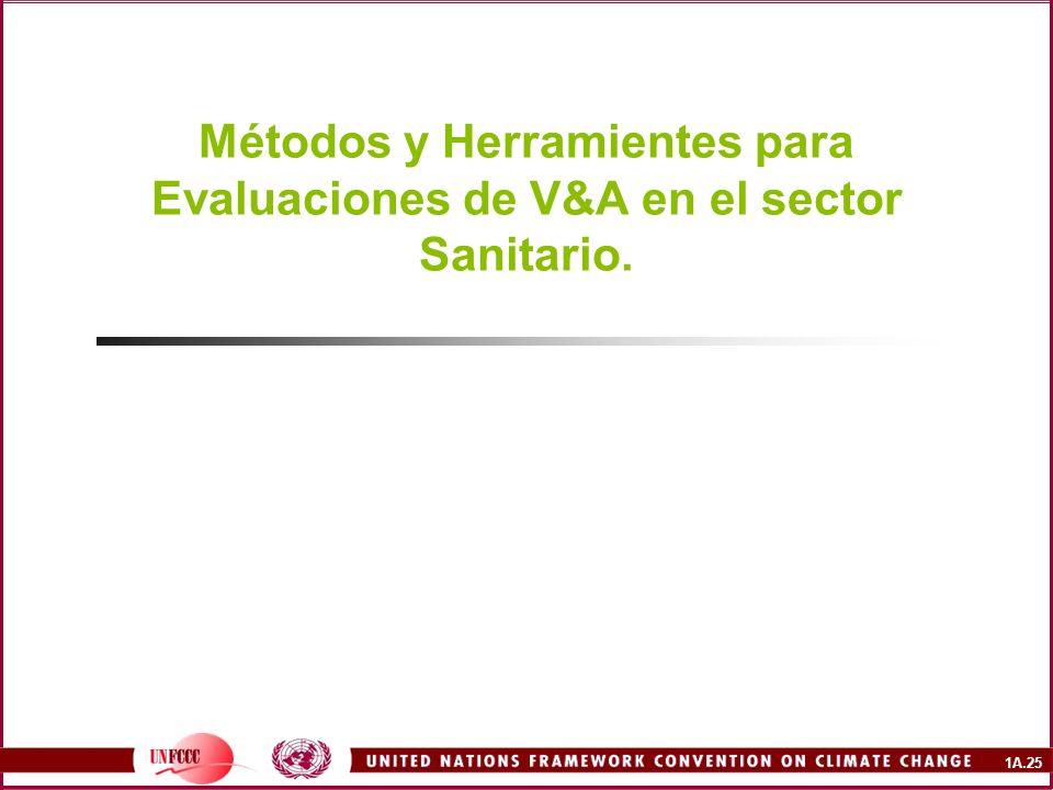 1A.25 Métodos y Herramientes para Evaluaciones de V&A en el sector Sanitario.
