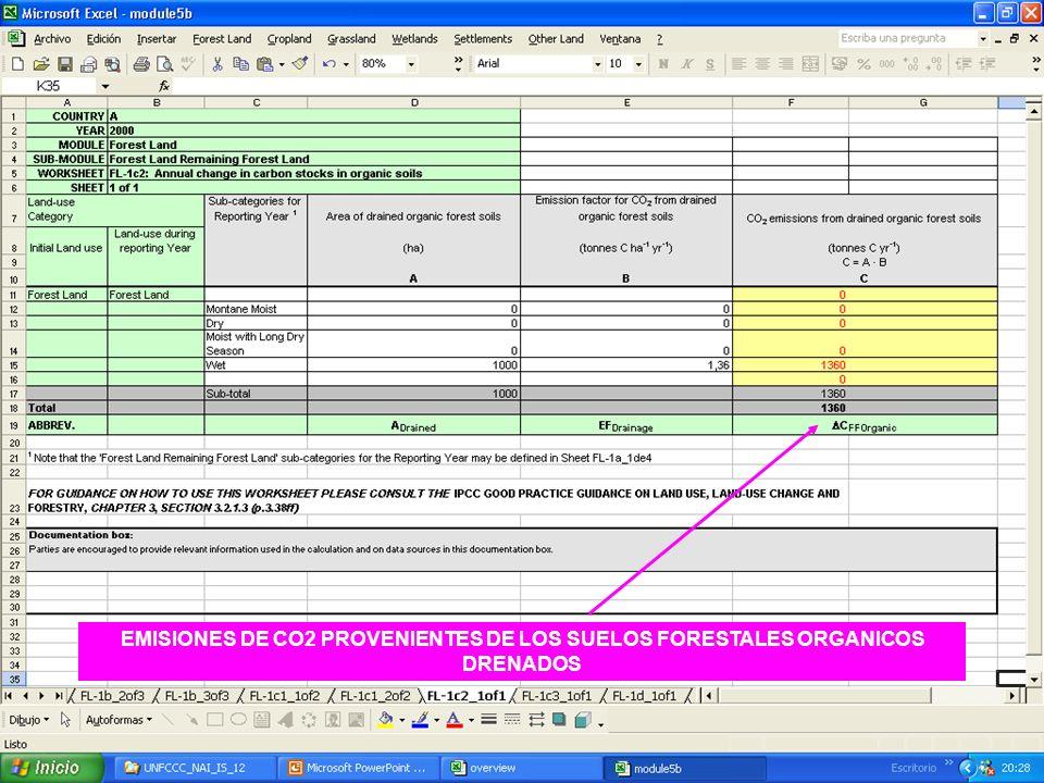 6E.47 47 EMISIONES DE CO2 PROVENIENTES DE LOS SUELOS FORESTALES ORGANICOS DRENADOS