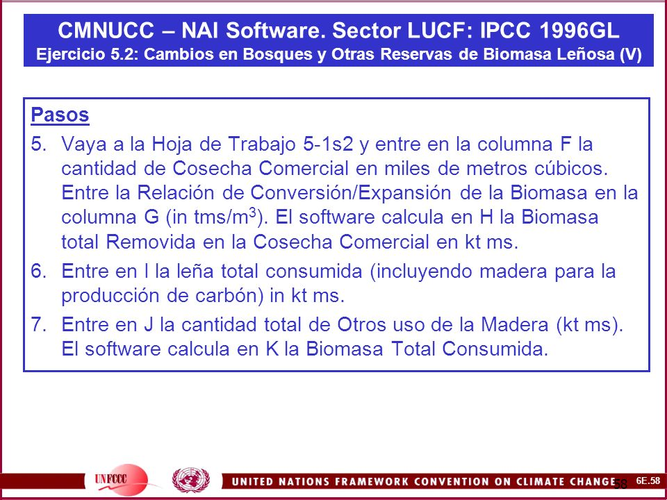 6E.58 58 CMNUCC – NAI Software.