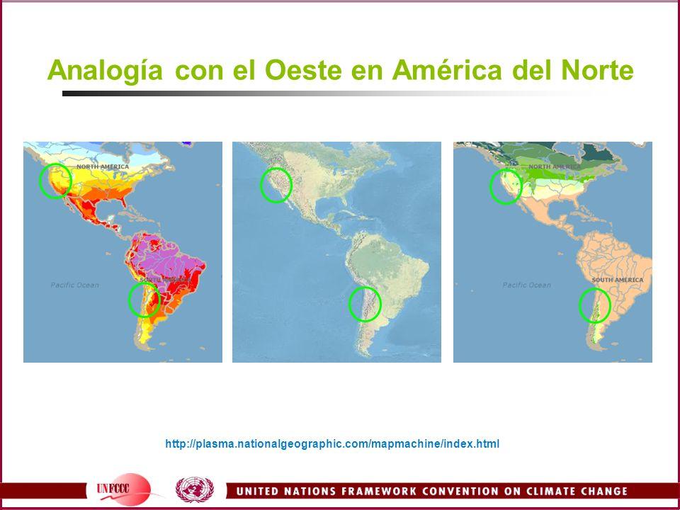 Analogía con el Oeste en América del Norte http://plasma.nationalgeographic.com/mapmachine/index.html