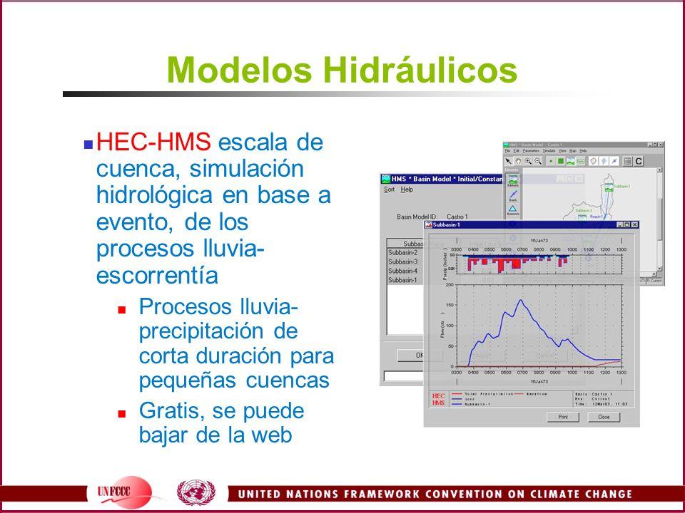 Modelos Hidráulicos HEC-HMS escala de cuenca, simulación hidrológica en base a evento, de los procesos lluvia- escorrentía Procesos lluvia- precipitac