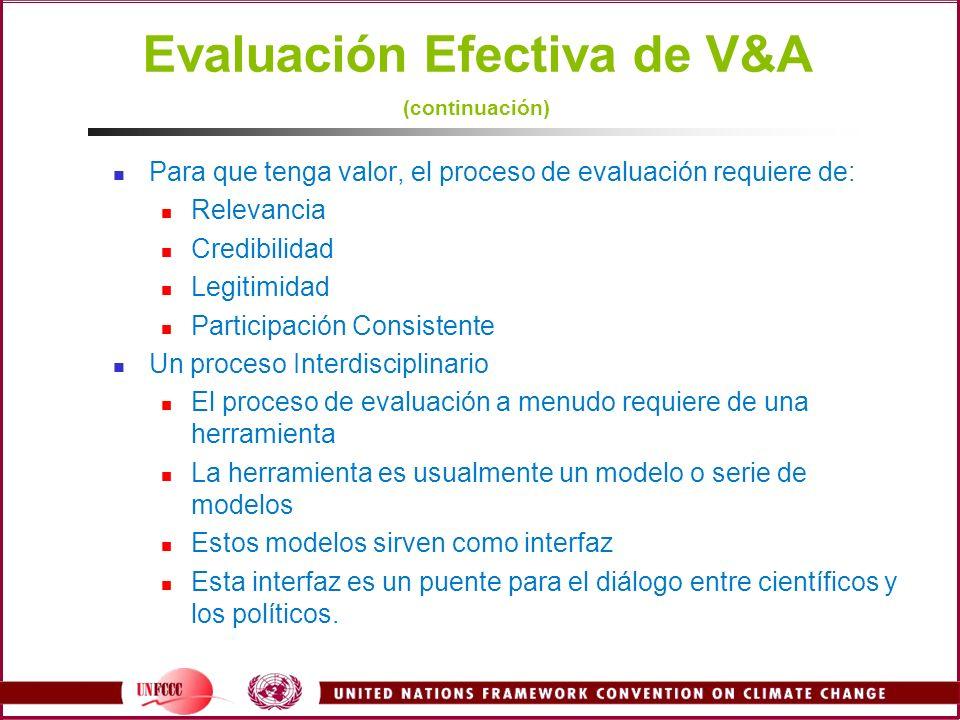 Para que tenga valor, el proceso de evaluación requiere de: Relevancia Credibilidad Legitimidad Participación Consistente Un proceso Interdisciplinari