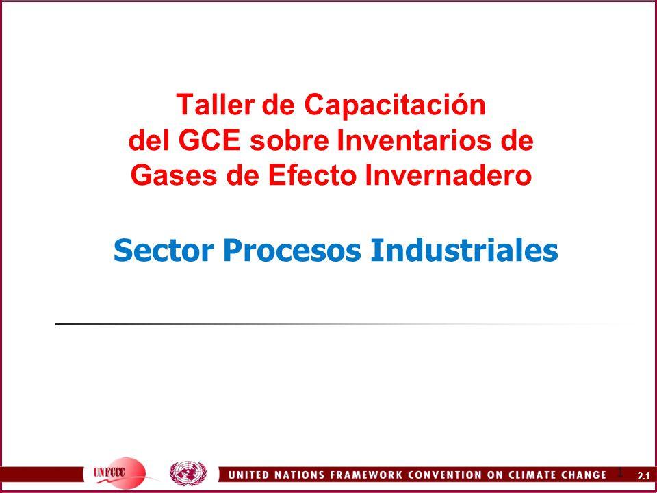 2.1 1 Taller de Capacitación del GCE sobre Inventarios de Gases de Efecto Invernadero Sector Procesos Industriales