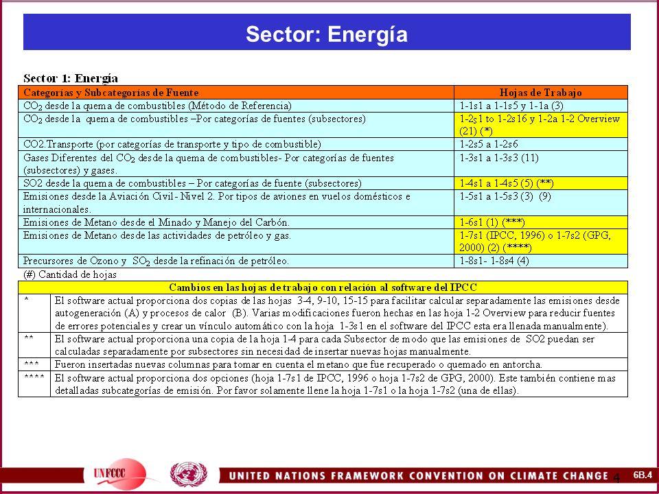 6B.4 4 Sector: Energía