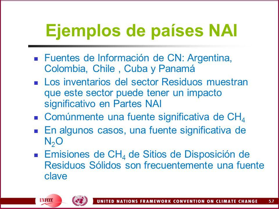 5.18 Prácticas de gestión de residuos (II) Rellenos sanitarios Diseñados especialmente Control de gas y lixiviados Economía de escala Producción contínua de metano