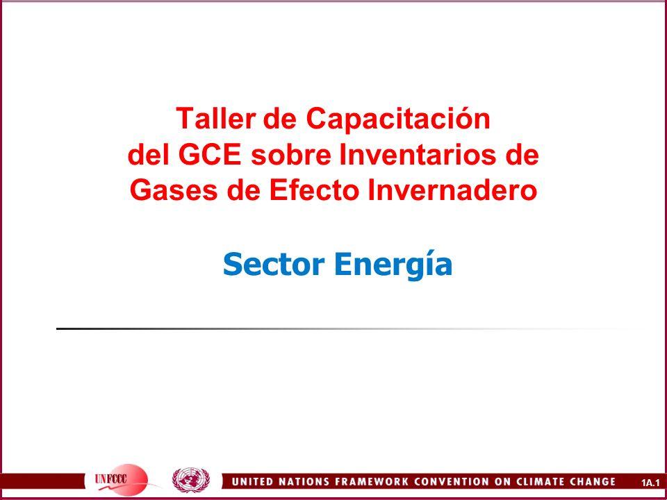 1A.12 Material de Referencia Secretaría de la CMNUCC en Bonn (Decisiones de la COP, guías para la presentación de informes, etc.) IPCC Directrices revisadas 1996 del IPCC Orientación sobre Buenas Prácticas Base de Datos de Factores de Emisión (EFDB) Agencia Internacional de Energía (IEA) OLADE para las estadísticas de Latinoamérica y El Caribe