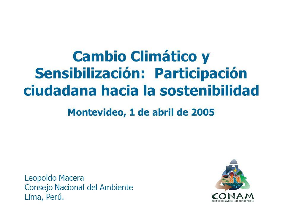 Leopoldo Macera Consejo Nacional del Ambiente Lima, Perú.