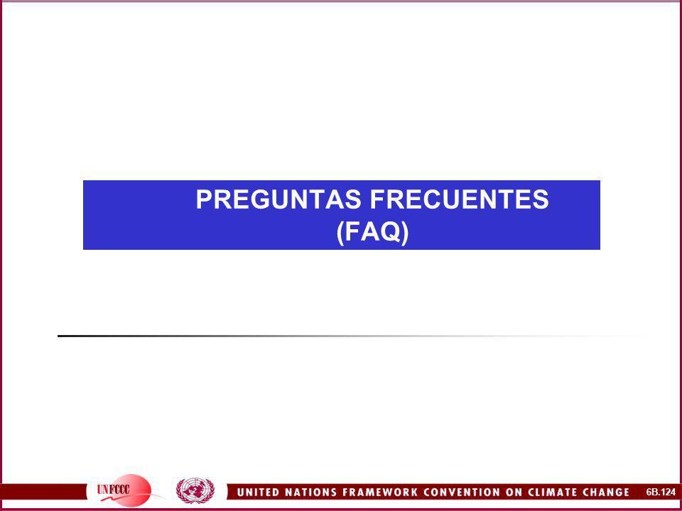6B.124 PREGUNTAS FRECUENTES (FAQ)