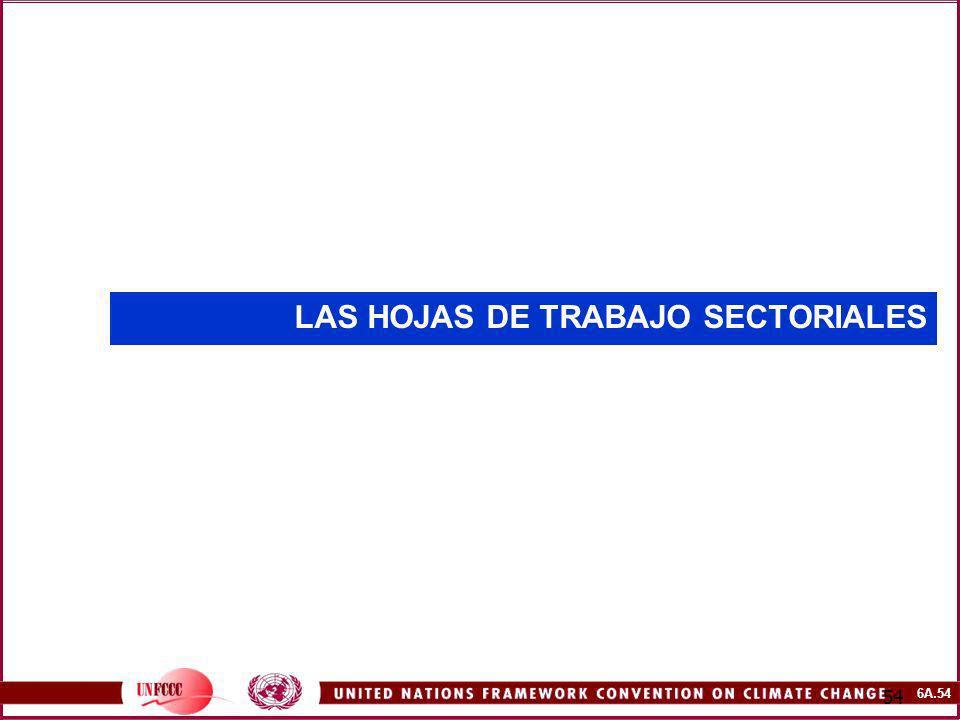 6A.54 54 LAS HOJAS DE TRABAJO SECTORIALES