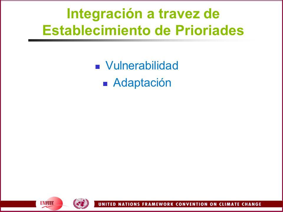 Integración a travez de Establecimiento de Prioriades Vulnerabilidad Adaptación
