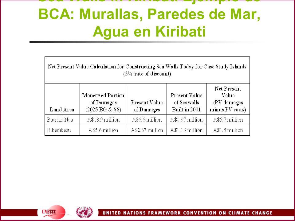BCA Example: Sea Walls in Kiribati Ejemplo de BCA: Murallas, Paredes de Mar, Agua en Kiribati