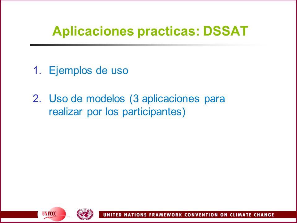1.Ejemplos de uso 2.Uso de modelos (3 aplicaciones para realizar por los participantes)